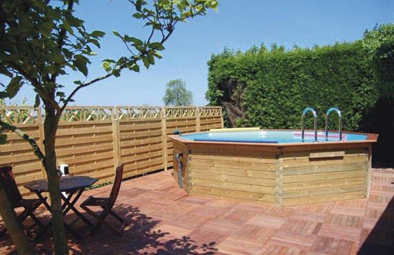 Piscine hors sol piscine en bois euro piscine services - Dalle pour piscine hors sol ...