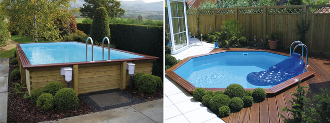 Piscine hors sol piscine en bois euro piscine services for Piscine semi enterree bois hexagonale