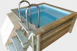 Piscine bois 2x2 for Prix piscine 5x5
